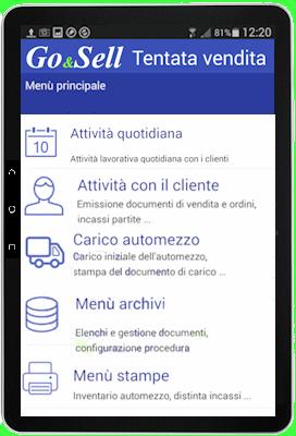 tablet GO&SELL Tentata Vendita